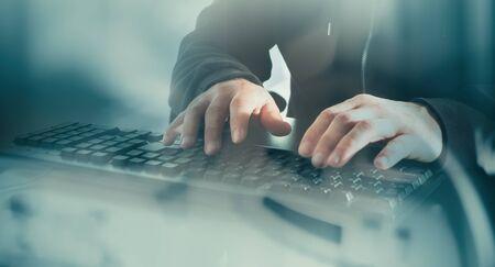 conception: Digital thief cyber attack conception