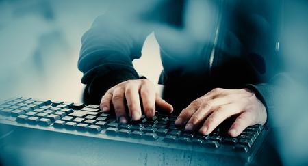 Hacker hacking computer security