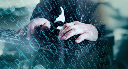 サイバー セキュリティ関連の仕事 写真素材