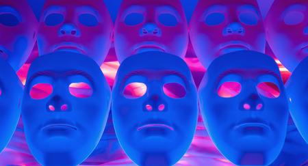 psycho social: Mask mystery metaphor