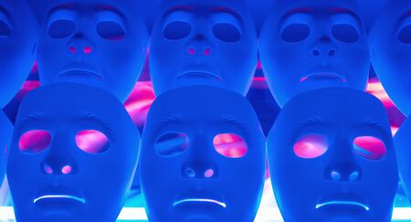 psycho social: Robot masks concept