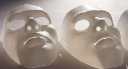 white mask: Depression people idea