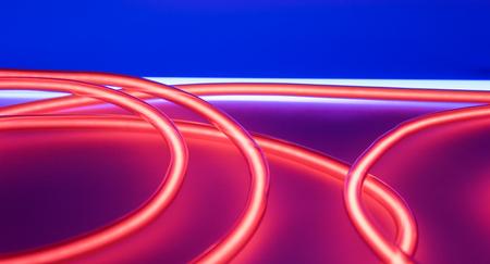 red tube: luces de neón tubo rojo. club nocturno de iluminación lámparas modernas.