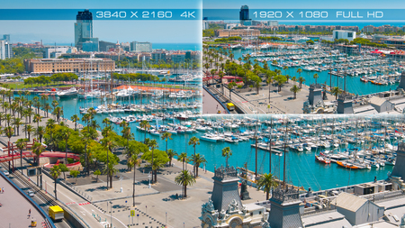 4K Ultra HD vs Full HD comparison tv resolution