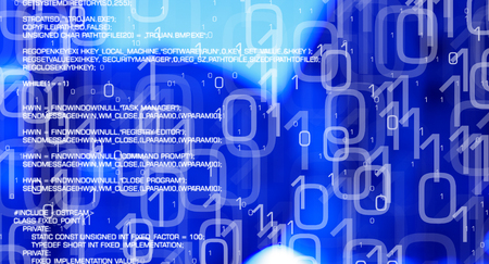 Computer cyber crime, virus attacks network