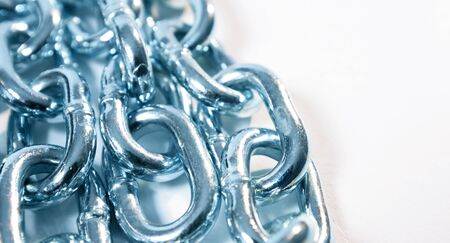 Steel strong chain powerful cyber security concept Stock Photo
