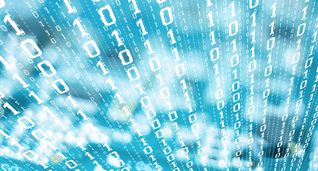 Binary digits stolen computer data, cyber attack threat