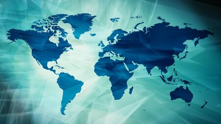 Travel world map, graphic title idea