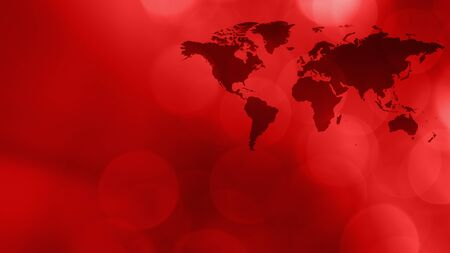 World continents news red idea Stock Photo