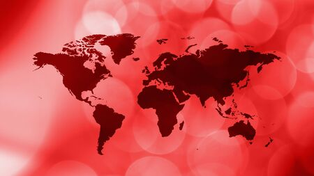 International red creative world map Stock Photo