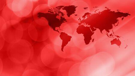International map concept, latest world news graphic