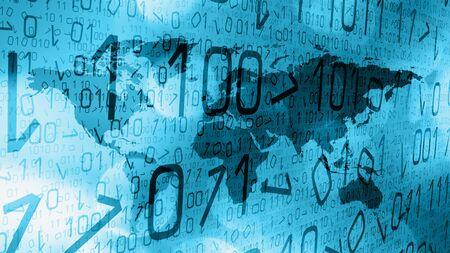 Hacker cyber crime breaking news illustration