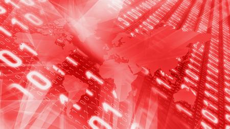 Red world breaking tech news Stock Photo
