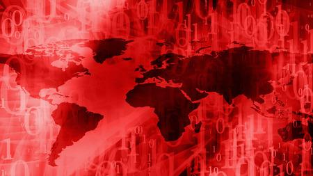 Futuristic cyber war breaking news background Stock Photo