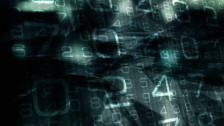Cyber chaos in cyberspace digital world Stock Photo