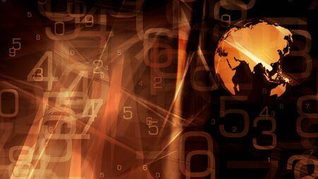 World globe technology news title concept Stock Photo