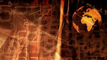 Digital data cyber world security idea