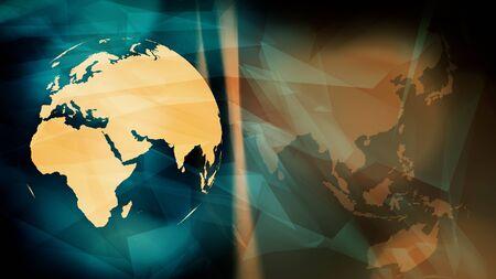 Technology futuristic cyber world security Stock Photo