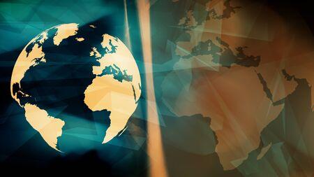Planet earth digital cyber network