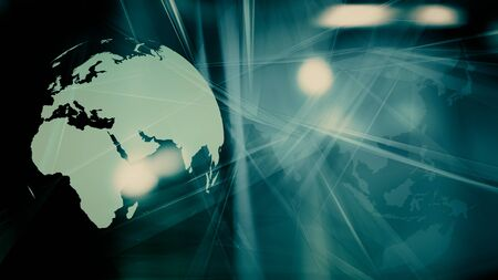 Digital world futuristic security technology symbol