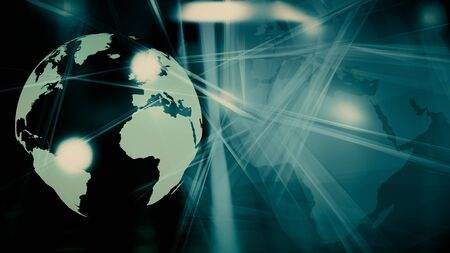 Global futuristic communication creative title backdrop