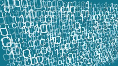 Caos di numeri casuali di cloud computing digitale, analisi dell'elaborazione dei dati digitali