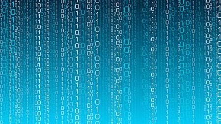 Cyberspace computer cloud, random opacity vector numbers