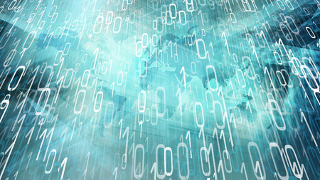 Digital transformation concept, random binary numbers