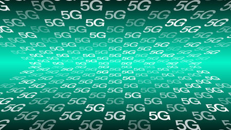 5G global network symbol, high speed signal for mobile industry