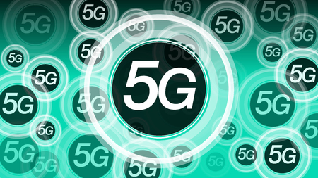 High speed 5G mobile internet network, vector background concept