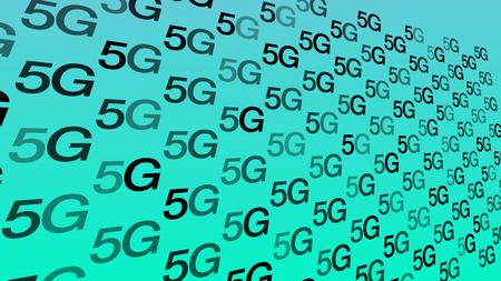 5th generation of global network, vector symbol concept Illustration