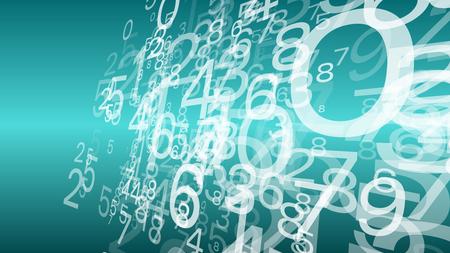 Computer cloud data storage, random numbers vector illustration