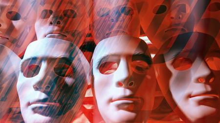 Sci-fi ai robots, binary data background