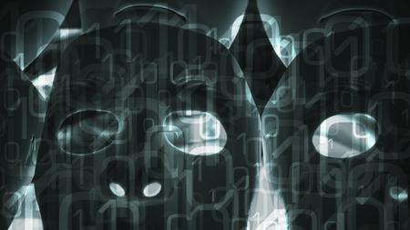 Ai creative concept binary data computer hacker security metaphor