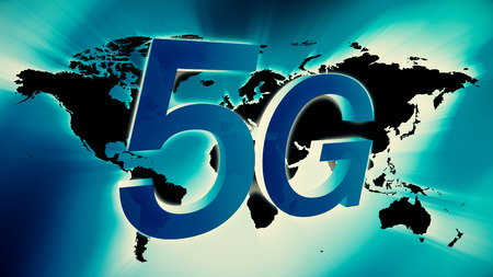 5G technology creative 3d symbol concept Stock Photo