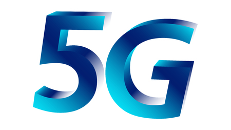 Cellular industry next generation 5g vector symbol