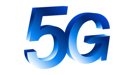 5G symbol vector 3d on white background Illustration