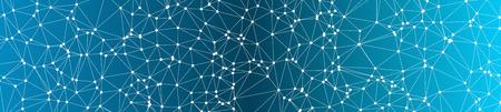 Fondo de banner ancho de vector de formas de triángulos conectados