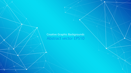 Disposition de présentation abstraite de technologie moderne, lignes de points connectés vecteur abstrait créatif