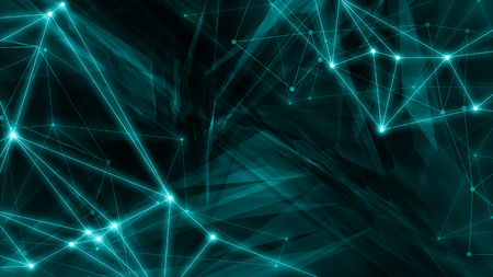 Triangle digital technology background, abstract random graphics