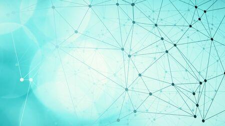 Verbinden der Punkte und Linien polygonales Layout, abstrakte Verbindungen futuristisches Muster Standard-Bild
