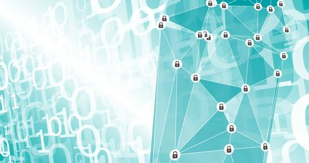 Cyber threats background, zeros ones binary background