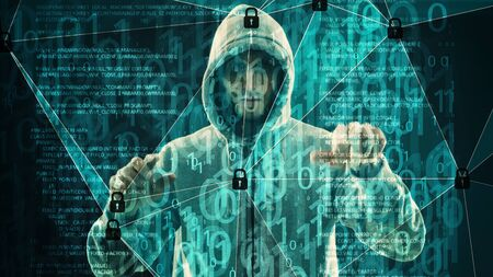 Abstract security signal processing, binary computer code and hacker
