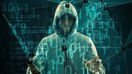 Holographic technology digital transformation security Stock Photo