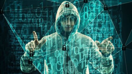 Cyber threats security, digital chaos connected