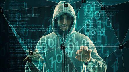 Hacker espionage computer hack, cyber attack bank