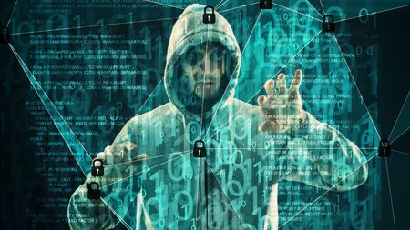 Cyber attack binary numbers, big data security