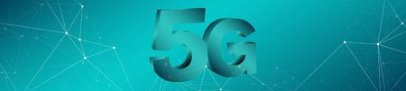 Mobile communication 5g network conception Stock Photo