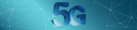 New digital mobile network 5g wide background concept Stock Photo