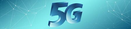 Fast mobile internet in 5G mobile network Stock Photo